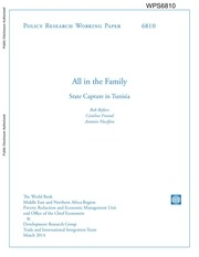 all in the family state capture in tunisia world bank 2014