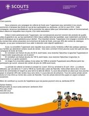 Fichier PDF doc vente tupperware scout