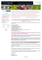 Fichier PDF les 10 plus grandes multinationales de la semence au monde