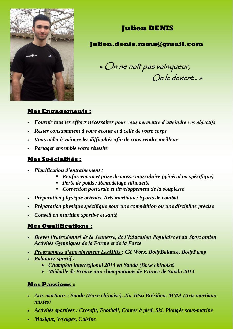 cv coaching julien ok par sports