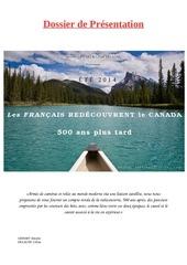 les francais redecouvrent le canada 500 ans plus tard