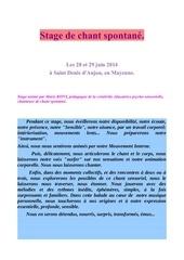 plaquette recto verso stage juin 2014