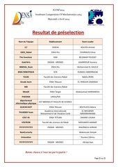 resultat pr selection 1