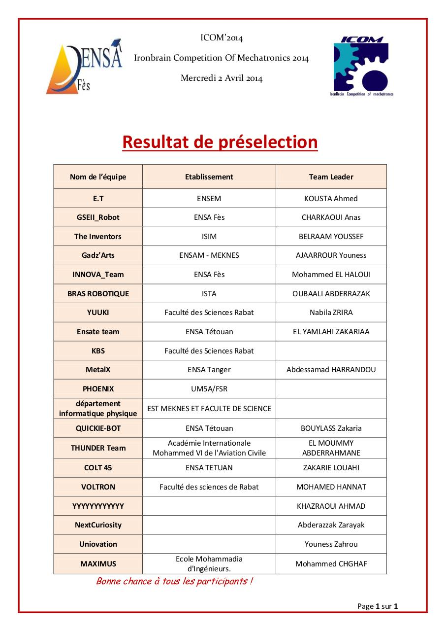 Aperçu du document resultat préselection.pdf - page 1/1