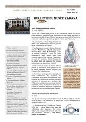 bulletin du musee zabana n 1