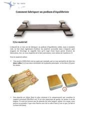 comment fabriquer un podium d equilibriste