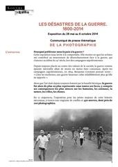 les dEsastres de la guerre communique de presse photo