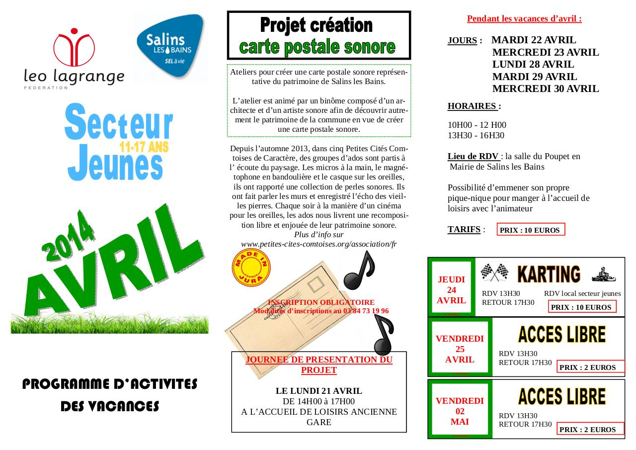 Aperçu du document Prog vac AVRIL 2014 2.pdf - page 1/2