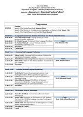 programme of the study day on assessment