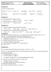 serie d exercices fonction exponentielles bac eco gestion