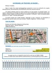 Fichier PDF annonce pour projet photo