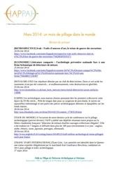 mars 2014 un mois de pillage dans le monde
