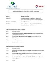chronogramme deroulement du seminaire
