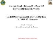 journee de la femme cotonou les oliviers