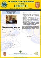 la lettre du gouverneur godefroy chekete fevrier 2014