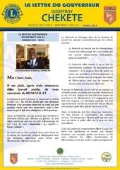 la lettre du gouverneur godefroy chekete mars 2014