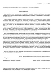lettre au ministre de l education nationale