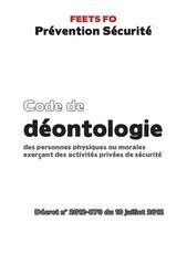 code de deontologie