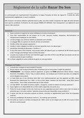Fichier PDF reglement de la room