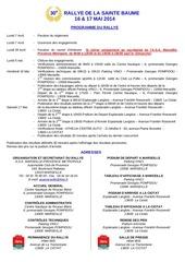 reglement sainte baume 2014 2