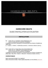 hardcore beats guide d installation d utilisation