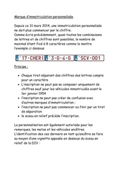 Fichier PDF marque d immatriculation personnalisee