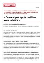 premier quart europeen douloureux pour yoann huget