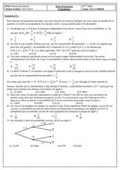 serie d exercices probabilites bac math