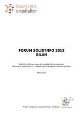 bilan solid info 2013