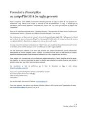 formulaire d inscription au camp d ete rugby geneve