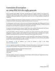 formulaire inscription camp d ete rugby geneve