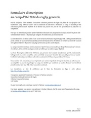 inscription camp d ete rugby genevois