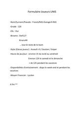 formulaire joueur unis en ligne pdf