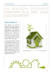 la maison durable s integre t elle bien dans l eco quartier