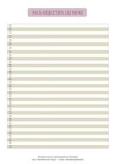 Fichier PDF objectifs du mois