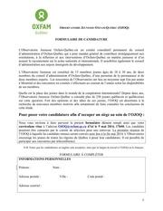 ojoq formulaire recrutement 2014