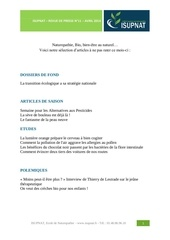 revue presse isupnat avril 2014