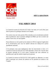 sad declaration politique salariale 2014 140409