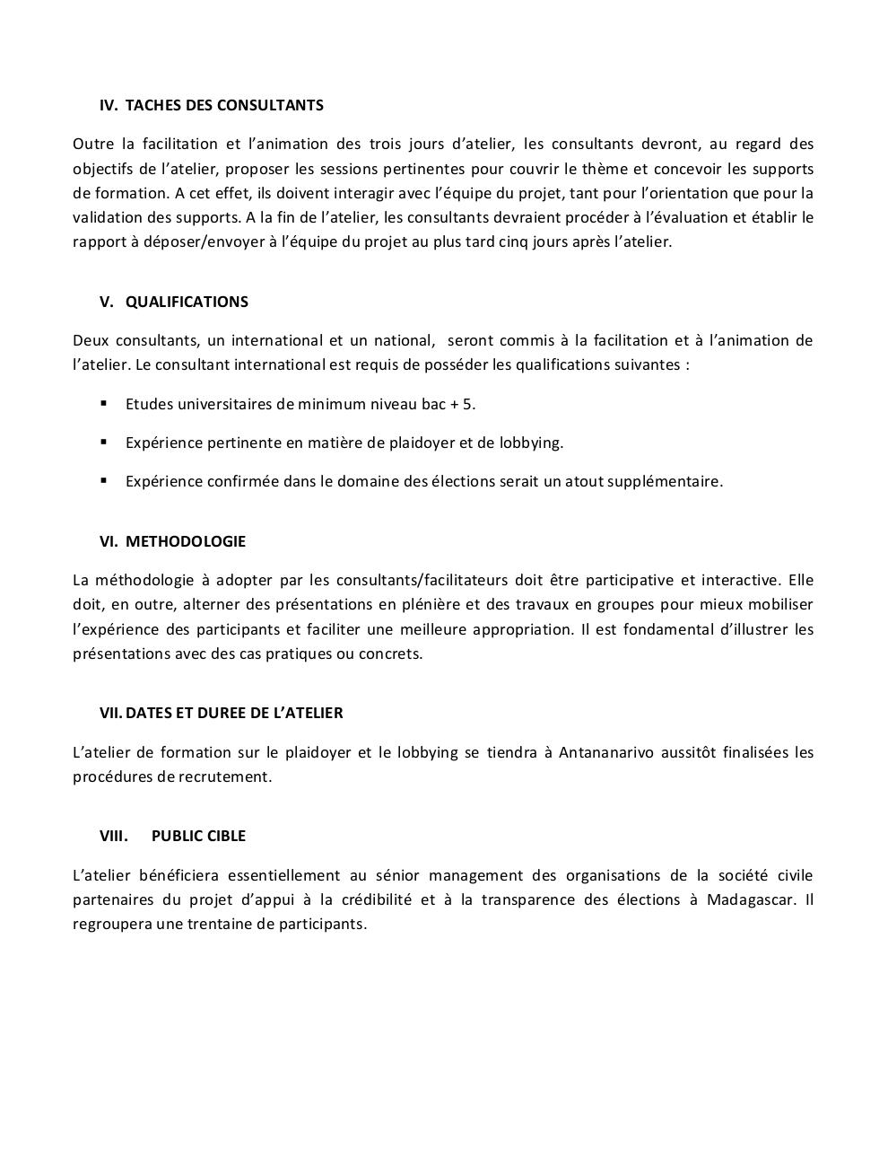 TdR Consultant International - Atelier plaidoyer.pdf - page 2/2