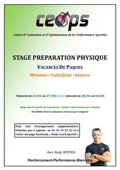informations stage preparation physique