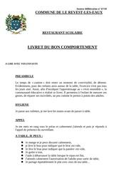 Fichier PDF livret du bon comportement au restaurant scolaire