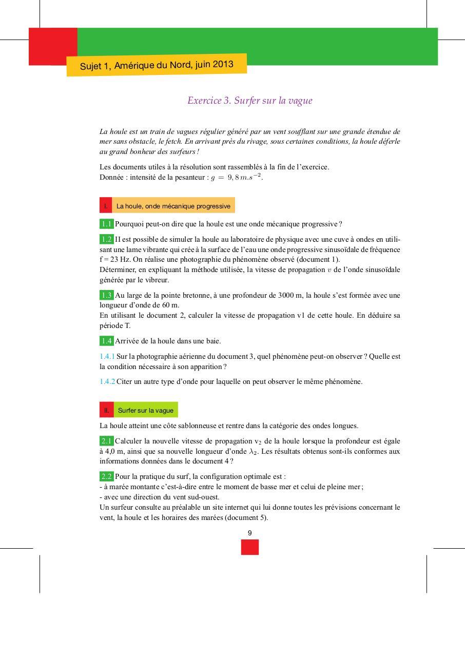 Bac Sujets De Physique Chimie Term S Fichier Pdf