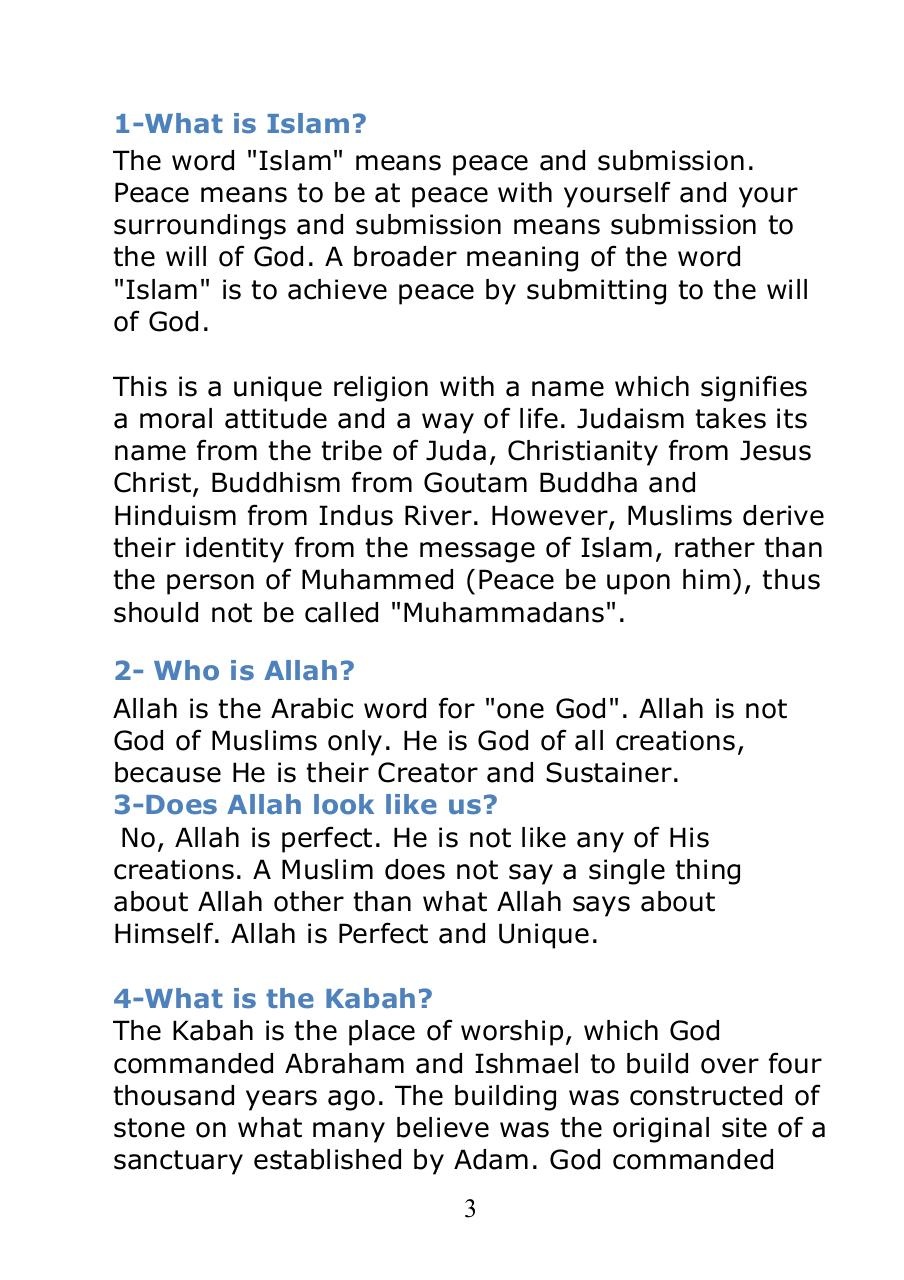 40 top questions about islam par collected by ali ateeq al dhaheri