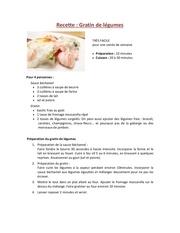 gratin legumes