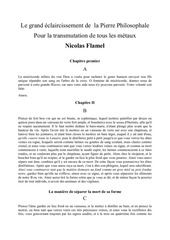 le grand eclaircissement de la pierre philosophale nicolas flamel