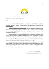 newsetter apep 2 french