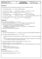 serie d exercices equations differentielles bac sc exp