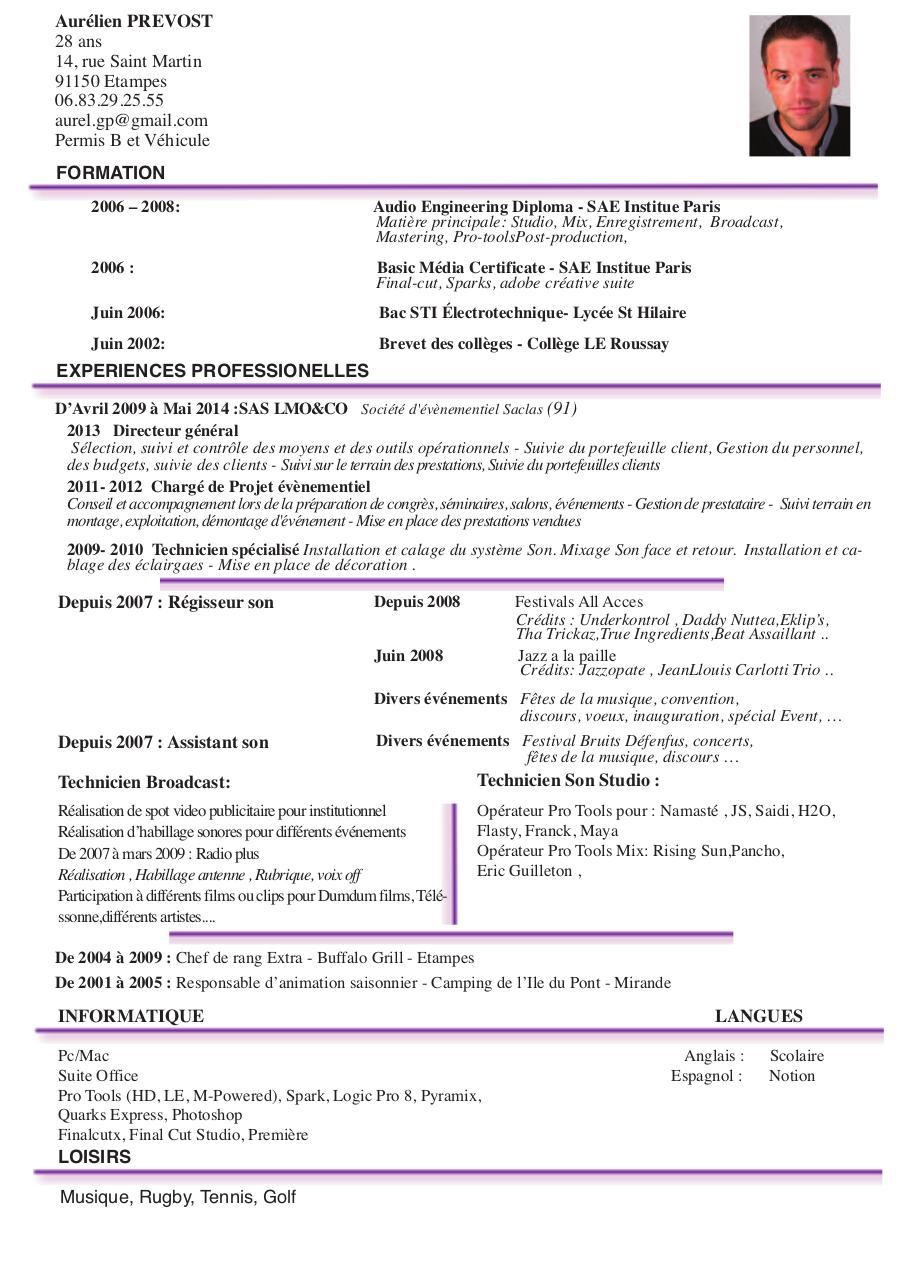 mise en page 1 - cv aurelien prevost pdf
