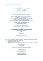 invitation ccz concert 3 mai 2014