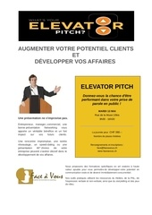 what s your elevator pitch